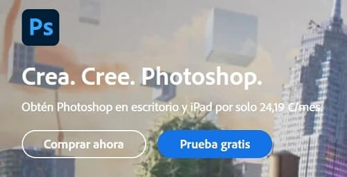 modelo de suscripción adobe photoshop